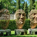 Sculptures by Anton Smit grace the gardens