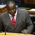 South African Finance Minister Tito Mboweni delivers the mid-term budget statement at parliament, Cape Town, South Africa, 24 October 2018. EPA/Nic Bothma