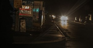 A main street of a poor neighbourhood in Cape Town during recent power cuts. EPA/Nic Bothma