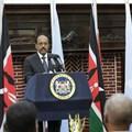 President Mohamed Abdullahi Mohamed of Somalia (left) and Kenya's President Uhuru Kenyatta.Their countries are in a row over territory. Daniel Irungu/EPA