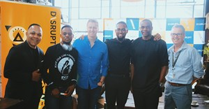 Picture caption: (l to r): Timothy Maurice (The Brain and the Brand Show), Siya Metane (SlikourOnLife), Gareth Cliff (CliffCentral.com) Thami Pooe (The Interchange), Kelechi Nwosu (MD/CEO TBWA Nigeria) and Graham Cruikshanks (Director for Africa Operations at TBWA Johannesburg).