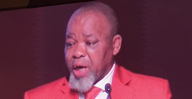 Gwede Mantashe, SA minister of minerals and energy