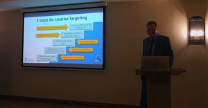 Dr Carl Driesener, senior marketing scientist at the Ehrenberg-Bass Institute (EBI) of marketing science in Australia explaining the 5 steps to becoming a smarter target marketer at Spark Media's recent event.