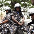 Police officers are seen in Freetown, Sierra Leone, on March 26, 2018. Presidential bodyguards recently attacked a group of journalists in Freetown. Credit: CPJ/Reuters/Olivia Acland.