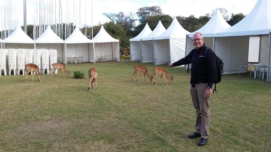 Justin Hawes at Mulungushi International Conference Centre in Lusaka, Zambia