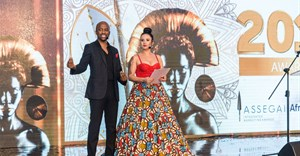 MCs Nina Hastie and Tats Nkonzo. Image credit: Assegai Awards.