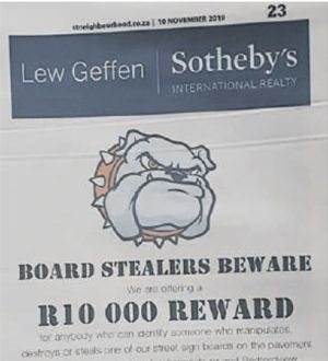 The reward ad.