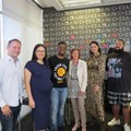All the speakers from left to right: Stephane Rogovsky, the CEO and founder of R Squared; Amanda Sevasti Alves, head of CX and digital at Publicis Machine; rapper turned businessman, Siya Metane from SlikourOnLife; Nicole Capper, MD and owner of Mango-OMC; well-known blogger; Aqeelah Harron-Ally from Fashion Breed and Hayden Manuel, sportstyle ZA marketing manager at Puma South Africa.