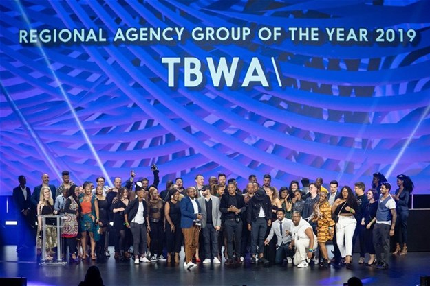 TBWA\ collective on stage at Loeries 2019