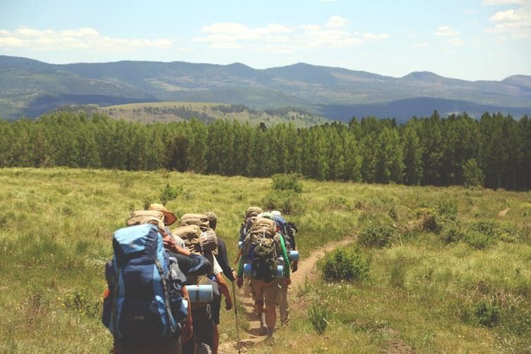 Long distance treks can be a great way to create and share experiences without harming the planet. ,