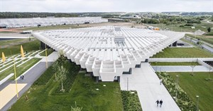COBE creates giant rhomboid roof for new Adidas' HQ in Germany