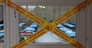 Camp beds set up for travelers returning to Germany from China, who will be isolated for two weeks to make sure they don't have coronavirus. YANN SCHREIBER/AFP via Getty Images