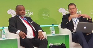 Minerals Minister, Gwede Mantashe in conversation with Errol Smart, CEO, Orion Minerals