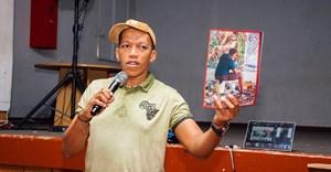 Vusi Mfupi at St Martins De Porres, for the Room 13 Inspiration Day in Soweto.