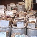 Traditional medicines sold at a South African market.