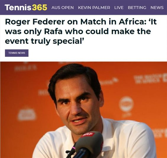 #MatchInAfrica: What social media said about the Nadal vs Federer tennis match for charity