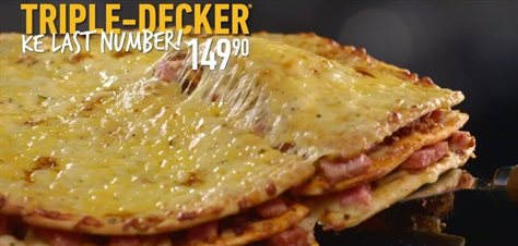 Debonairs Pizza kicks off 2020 with 'Last Number' promotion for its popular Triple-Decker