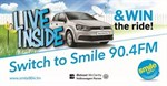 Live Inside and Win the Ride with Smile 90.4FM and McCarthy Volkswagen Parow