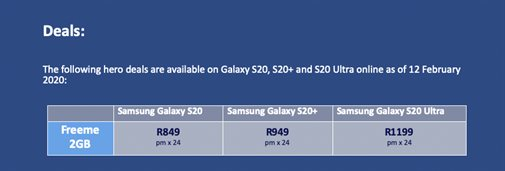 Get the Galaxy Buds+ free when you pre-order the new Samsung Galaxy S20 on the Telkom website