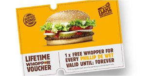 Burger King celebrates all of SA's Phillip de Wets