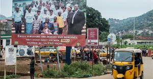 Ebola posters in Freetown, Sierra Leone.