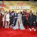 Queen Sono cast at the SA premiere. Image supplied.