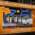 The Whopper Detour campaign. Image supplied.