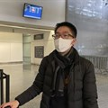 Bill Chen at San Francisco International Airport after arriving on a flight from Shanghai. Chen said his temperature was screened at the Shanghai airport before he departed.