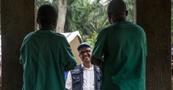 WHO Director-General Tedros Adhanom at an Ebola treatment centre in Itipo. Getty images/ Junior D. Kannah