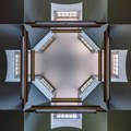 The skylight of the Weskoppies Chapel in Pretoria.