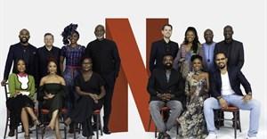 Back row (From L-R): Banky W, Ted Sarandos (Netflix Chief Content Officer), Kate Henshaw, Richard Mofe-Damijo, Felipe Tewes (Netflix Italian & African Originals Director), Omoni Oboli, Ben Amadasun (Netflix Africa Licensing Director) and Akin Omotoso Front Row (L-R) Mo Abudu, Adesua Etomi, Dorothy Ghettuba (Netflix African Originals lead) , Kunle Afolayan, Kemi Adetiba and Ramsey Noah.