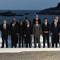 In happier and less challenging times: world leaders and guests pose for a picture on the second day of the annual G7 summit in Biarritz, France, August 2019. Photo by Andrew Parsons - Pool/Getty Images