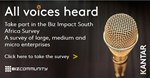 Participate in Kantar's Biz Impact survey   Covid-19's impact on small, medium and large business in SA