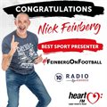 Heart FM's Nick Feinberg named Sports Presenter of the Year at 2020 Radio Awards
