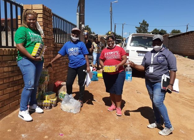Food distribution during Covid-19.