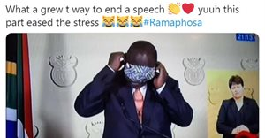 No masking Ramaphosa's humour: SA responds to new challenge [social media analysis]