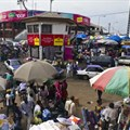 The street market at Mont-Bouët in Libreville, Gabon. The country was one of 10 on the continent downgraded this year. Getty Images