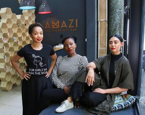 The Amazi Group co-founders. From left: Katleho Tsoku, Lisa Mgcotyelwa and Divya Vasant