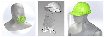Mpact expands face shield range - adults, kids, hardhat shields and respiratory masks