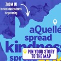 aQuellé Kindness Map plots acts of kindness during lockdown