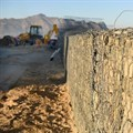 Strand sea wall emergency repairs under way