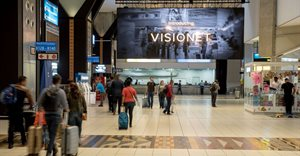 Airport Ads bolsters Visionet network with massive OR Tambo screen