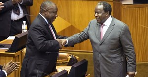 Does the budget tabled by Finance Minister Tito Mboweni (right) speak to President Cyril Ramaphosa's vision of the new economy? Getty Images
