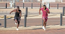 People exercising in Ellis Park in Johannesburg, South Africa. Dino Lloyd/Gallo Images via Getty Images
