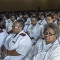 Nurses attend the 2015 International Nurses' Day celebrations in Johannesburg, South Africa. Ihsaan Haffejee/Anadolu Agency/Getty Images