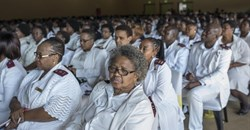 Nurses attend the 2015 International Nurses' Day celebrations in Johannesburg, South Africa. Ihsaan Haffejee/Anadolu Agency/Getty Images