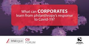 How can donors invest with a post-Covid-19 world in mind?