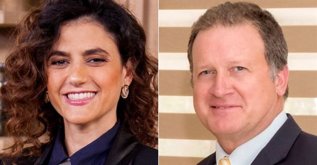 Yael Geffen, CEO of Lew Geffen Sotheby's International Realty, and Joff van Reenen, lead auctioneer and director of High Street Auctions