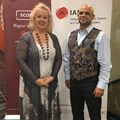Johanna McDowell of the Independent Agency Search and Selection (IAS) and certified ActionCOACH business coach Brehndan Botha.