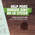 Burger King petitions Home Affairs for citizenship